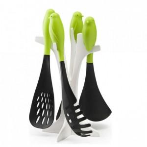 Набор кухонных принадлежностей Qualy 'Sparrow Serving Set' зеленый (QL10109-GN)