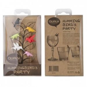 Подарок Набор маркеров для бокалов Qualy 'Humming Bird Mark' (QL10101-MX)