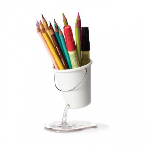 Подарок Подставка для канцелярских принадлежностей Peleg Design 'Desk Bucket' белая (PE923)