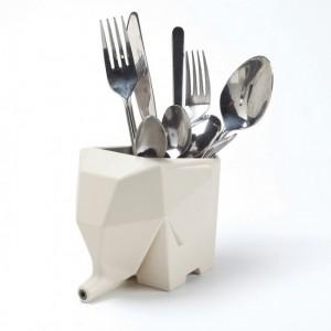 Подставка для кухонных принадлежностей/зубных щеток Peleg Design 'Jumbo' кремовая (PE832)