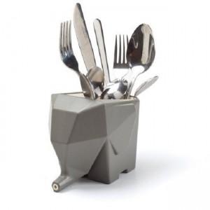 Подставка для кухонных принадлежностей/зубных щеток Peleg Design 'Jumbo' серая (PE831)