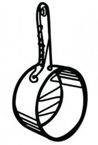 Подставка под горячее Peleg Design 'Сковорода глубокая' (PE782)