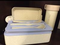 Подарок Ланч бокс из биопластика (2 этажа)