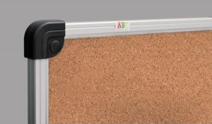 фото Пробковая доска S-line 90 x 120 cм в алюминиевой раме #2