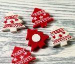 Подарок Керамический новогодний декор на липучке (12 шт)