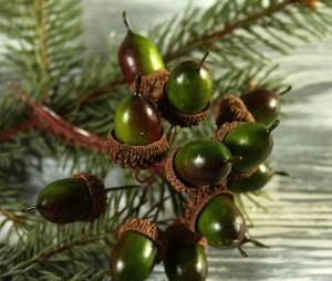 Подарок Новогодний декор 'Желуди'