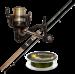 Супер-комплект 'Набор спиннингиста': спиннинг Golden Catch, катушка Favorite Regza и шнур Select