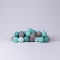 Подарок Хлопковая гирлянда Cotton Ball Lights Aqua (35 шариков)
