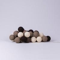 Подарок Гирлянда хлопковая CottonBallLights 'Brown' (35 шариков)