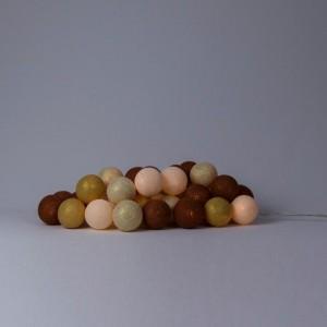 фото Гирлянда хлопковая CottonBallLights 'Gold & Copper' (20 шариков) #2