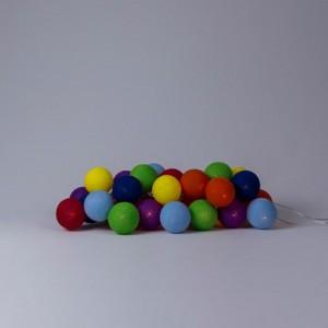фото Гирлянда хлопковая CottonBallLights 'Rainbow' (20 шариков) #2