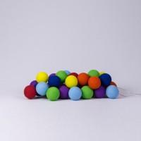 Подарок Гирлянда хлопковая CottonBallLights 'Rainbow' (20 шариков)