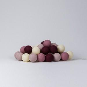 Подарок Гирлянда хлопковая CottonBallLights 'Rosegarden' (20 шариков)