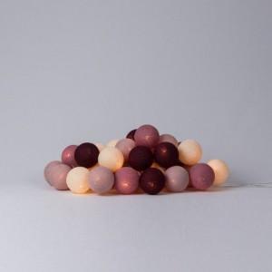 фото Гирлянда хлопковая CottonBallLights 'Rosegarden' (20 шариков) #2