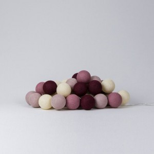 Подарок Гирлянда хлопковая CottonBallLights 'Rosegarden' (35 шариков)