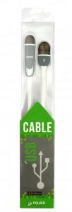фото Kабель PowerPlant Quick Charge 2A 2-в-1 flat USB 2.0 AM – Lightning/Micro 1м white #2