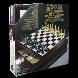 Набор из 10 классических игр Spin Master (SM98376/6033153) в деревянной коробке