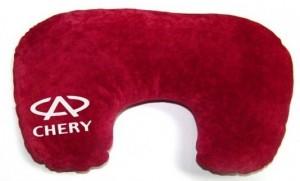 Подарок Подушка-рогалик для шеи 'Chery'