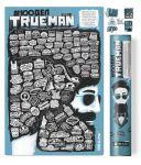 Подарок Скретч постер '#100 ДЕЛ TrueMan Edition' (русский) в тубусе