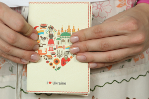 Подарок Обложка для паспорта 'I Love Ukraine' (украиночка)