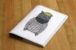 Подарок Обложка для паспорта 'Кот-хипстер'