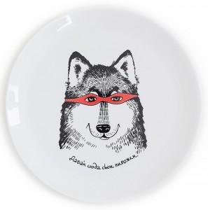 Подарок Тарелка 'Волк-разбойник'