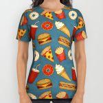 Подарок Дизайнерская футболка ''Fast Food'