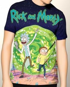 Подарок Дизайнерская футболка 'Full Rick and Morty 1'