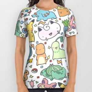 Подарок Дизайнерская футболка 'Kawaii Pokémon'