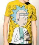 Подарок Дизайнерская футболка 'Rick Sanchez с полной запечаткой'