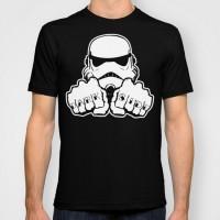 Подарок Дизайнерская футболка 'Dark Side Knuckle'