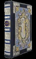 Книга Библия в кожаном переплете и филигранью