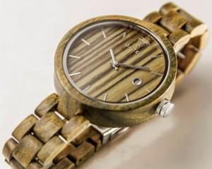 фото Деревянные часы Galtree 'Grace' Black (Эбеновое дерево) #5