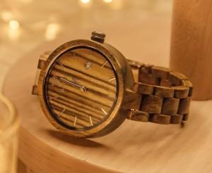 фото Деревянные часы Galtree 'Grace' Black (Эбеновое дерево) #4