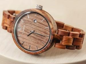 фото Деревянные часы Galtree 'Grace' Black (Эбеновое дерево) #6