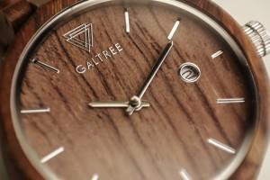 фото Деревянные часы Galtree 'Grace' Black (Эбеновое дерево) #8