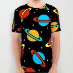 Подарок Дизайнерская футболка 'Space Planets Pattern'