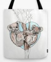 Подарок Дизайнерская сумка 'Koala love'