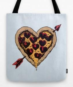Подарок Дизайнерская сумка 'Pizza Love'