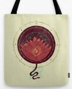 Подарок Дизайнерская сумка 'Red Lotus'