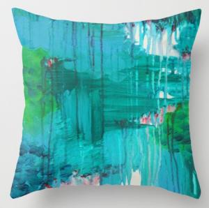 Подарок Интерьерная подушка 'Blue Monsoon. Stunning Rain'