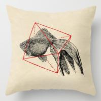 Подарок Интерьерная подушка 'Fish In Geometrics'