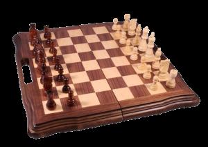 Набор из 3 игр: шахматы, нарды, шашки (орех) (AF1601-05)