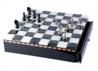 Латунные шахматы на мраморной доске (SG1175)
