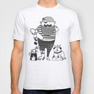 Подарок Дизайнерская футболка 'Hilary goes out'