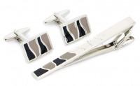 Подарок Заколка для галстука + запонки S.Quire (EG-17343)