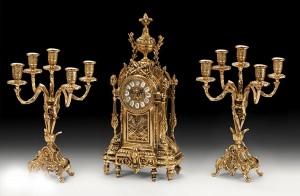 Подарок Набор: часы с двумя канделябрами на 5 свечей Virtus (5136-4060)