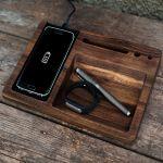Подарок Деревянный аксессуар 'Беспроводное зарядное устройство'