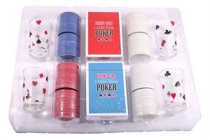 фото Набор для игры в пьяный покер, 200 фишек, 4 рюмки (PG42200) #2