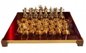 Шахматы 'Лучники' в деревянном футляре красные (S15RED)